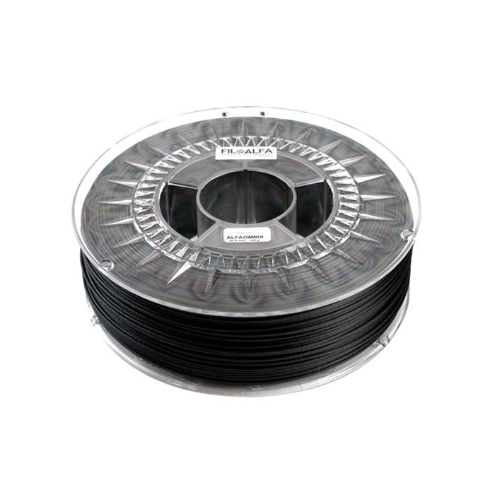 FiloAlfa 1.75 mm ALFAOMNIA carbon fibers filament, Black