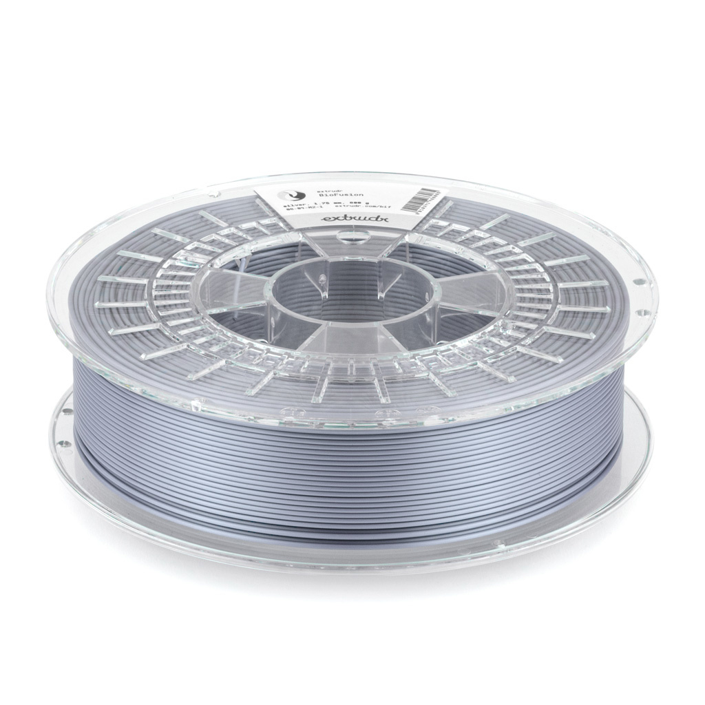 Extrudr 1.75 mm Biofusion filament silk finish, Quicksilver
