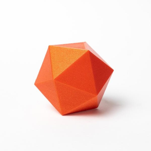 Proto-pasta 1,75 mm HTPLA filamento, Tangerine Orange Metallic