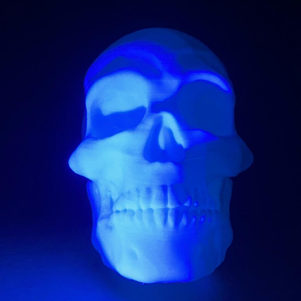 EUMAKERS 1.75 mm UV Reactive PLA filament, White-Blue