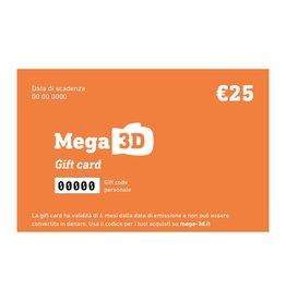 Carta regalo 25 euro