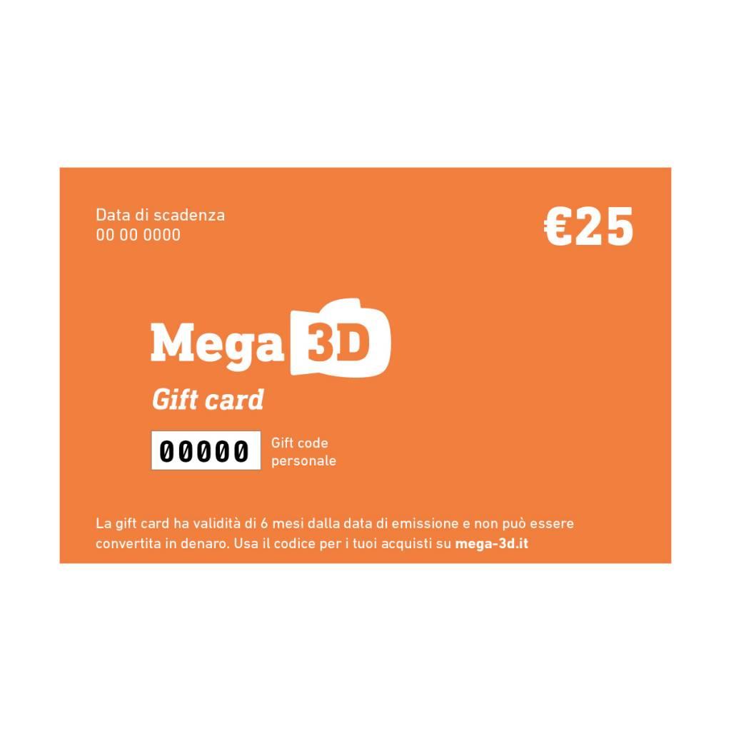 Gift card 25 euros