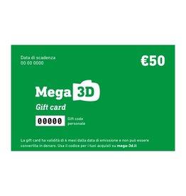 Carta regalo 50 euro con spedizione gratuita