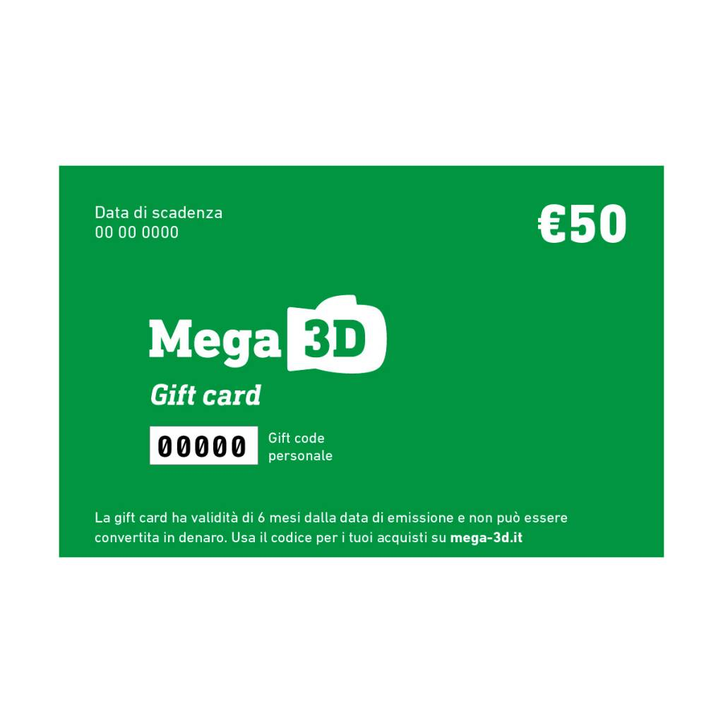 Gift card 50 euros with free shipping Italy