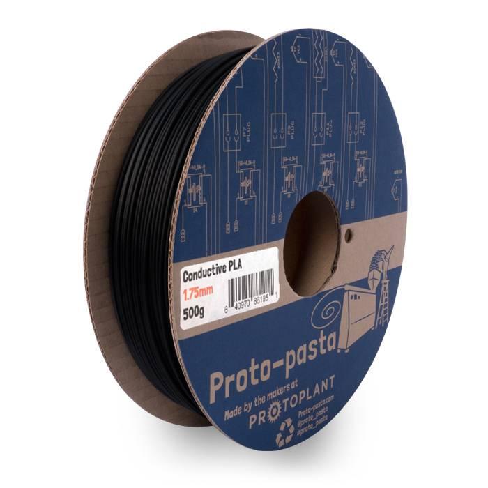 Proto-pasta 1,75 mm PLA filamento conduttivo, Nero