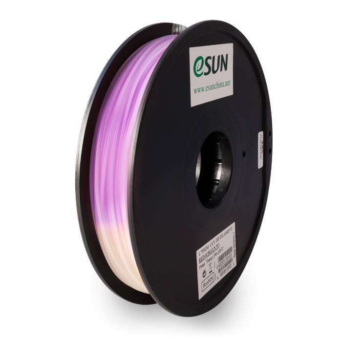 Esun 1,75 mm PLA cambia colore filamento, Naturale-Viola