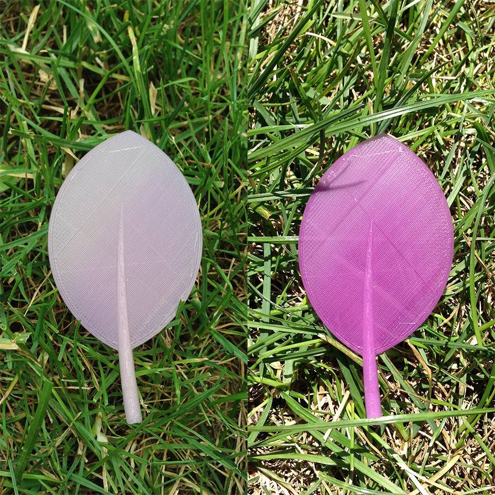 Esun 1.75 mm PLA color change by daylight, Natural to Purple