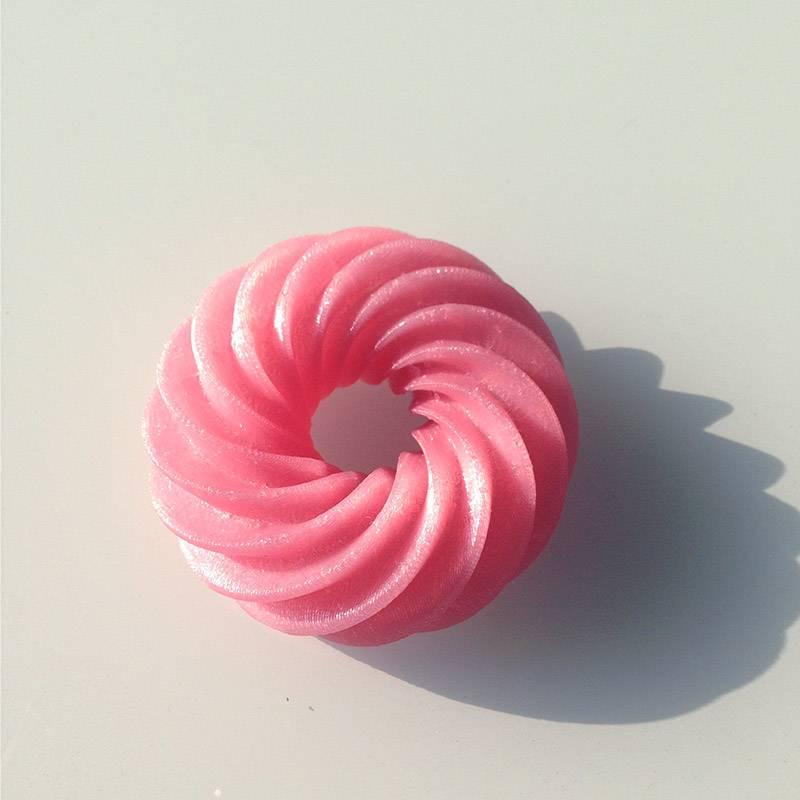 EUMAKERS 1,75 mm PLA filamento, Rosa metallizzato