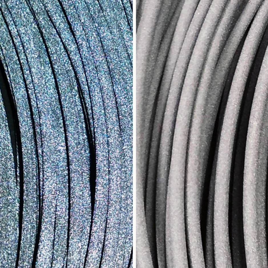 Lay Filaments 1.75 mm Reflect-O-Lay reflective filament, Grey