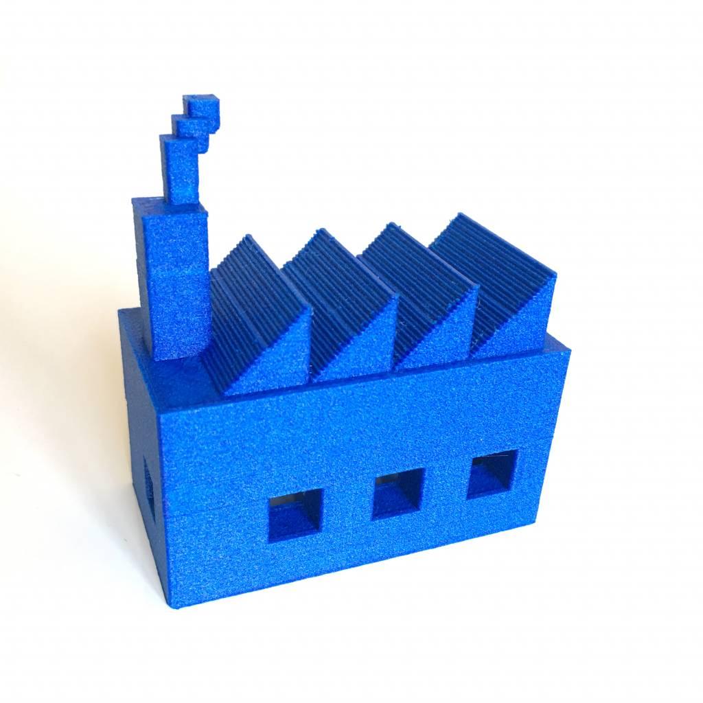 Proto-pasta 1,75 mm Matte Fiber HTPLA filamento, Blu
