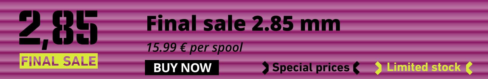 2.85 mm big sale