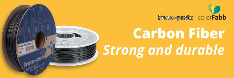 Colorfabb and Proto-pasta carbon fiber 3d filaments