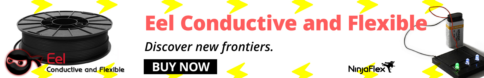 eel conductive and flexible filament