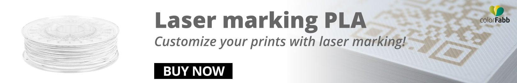 Laser marking PLA filament