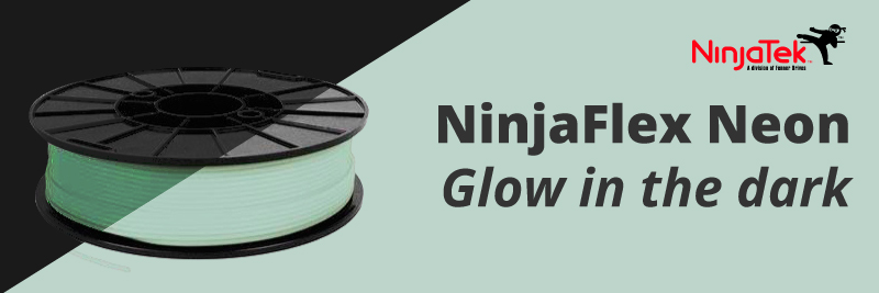 Ninjaflex glow in the dark 3d flexible filaments