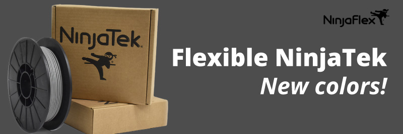 Ninjaflex, Cheetah, Armadillo, 3d flexible filaments