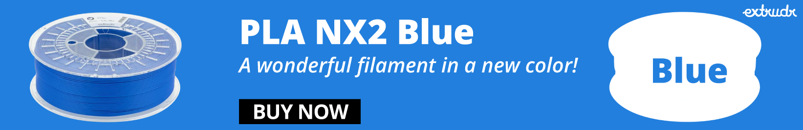 PLA NX2 Blue by Extrudr