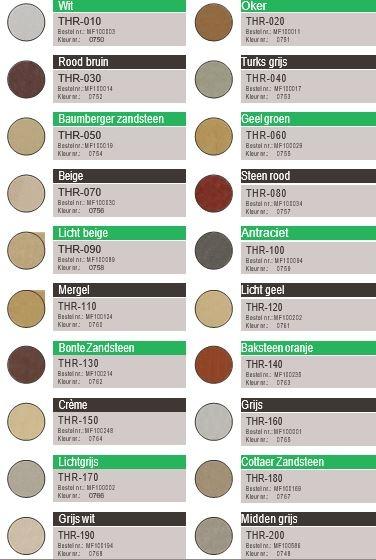 Kleurenkaart restauratiemortel