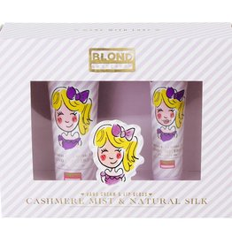 Blond Amsterdam Set Handcreme & Lip Gloss paars Cashmere - Blond Amsterdam