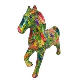 Pomme-Pidou Spaarpot Paard Lucky met palmbladeren - Pomme-Pidou