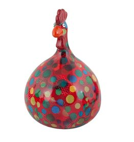 Pomme-Pidou Spaarpot Kip Marie rood met stippen - Pomme-Pidou