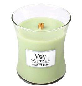 "WoodWick Kaars WoodWick ""Green Tea & Lime"" medium - WoodWick"