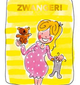 Blond Amsterdam Zwanger Tea card geel - Blond Amsterdam