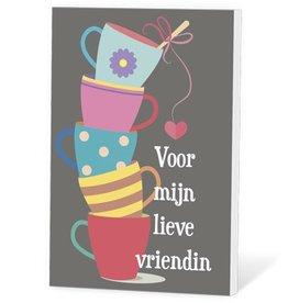 Voor mijn lieve vriendin - Thee in een kaartje
