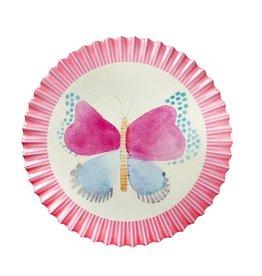Rice Pannenonderzetter Butterfly donker roze - Rice
