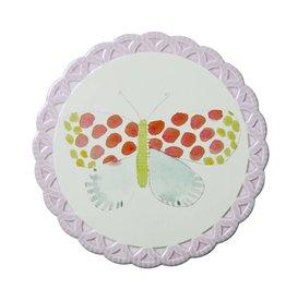 Rice Pannenonderzetter Butterfly licht roze - Rice