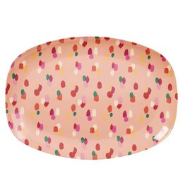 Rice Bord ovaal Melamine met Coraal Dot print - Rice