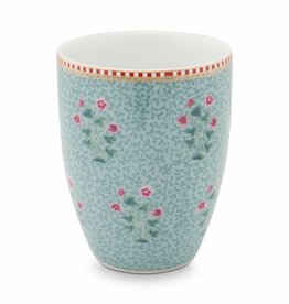 Pip Studio Drinkbeker Floral Good Morning blauw - Pip Studio
