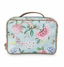 Pip Studio Beauty Case 2-zijdig groot Floral Good Morning blauw - Pip Studio