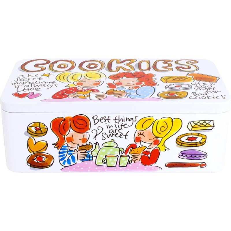 """Blond Amsterdam Koekblik Cookies klein """"Even Bijkletsen"""" - Blond Amsterdam"""