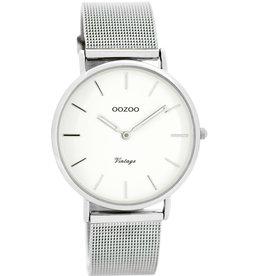 OOZOO Horloge Zilver wit 36mm C7728 - OOZOO