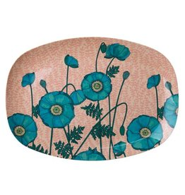 Rice Bord ovaal Melamine Blue Poppy Print - Rice
