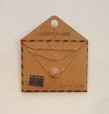Go Dutch Label Ketting Rhodonite 14K Goud N7051-3GD - Go Dutch Label