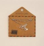 Go Dutch Label Ketting Zwaluw Origami Vogel N8034-1 - Go Dutch Label