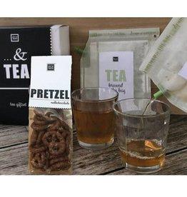 LIV 'N TASTE Tea Giftset met chocolade pretzels en 2 glazen - LIV 'N TASTE