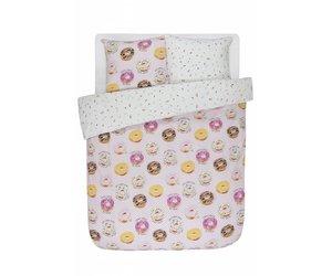 Dekbedovertrek lits jumeaux pers  donuts blond