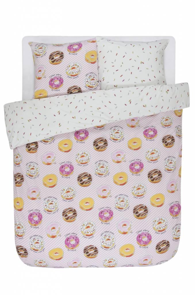 Blond Amsterdam Dekbedovertrek 2-pers 200X220+60X70 Donuts - Blond Amsterdam