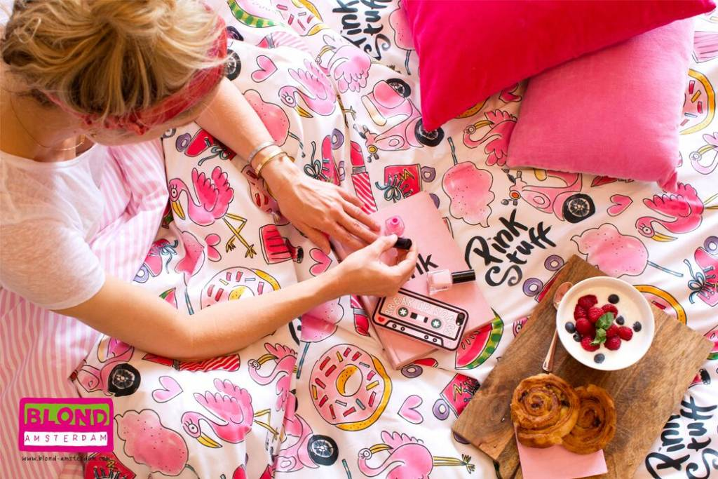 Blond Amsterdam Dekbedovertrek 1-pers 140X220+60X70 Pink Stuff - Blond Amsterdam