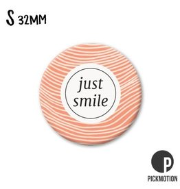 Magneet Pickmotion 32 mm Quote Just Smile