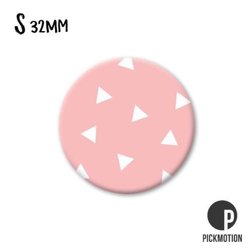 Magneet Pickmotion 32 mm Patroon Roze Witte driehoekjes