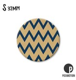 Magneet Pickmotion 32 mm Patroon Bruin Zwarte grafieklijn