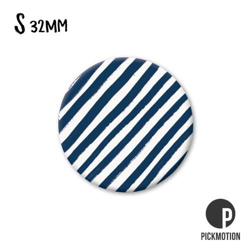 Magneet Pickmotion 32 mm Patroon Donker Blauwe Strepen