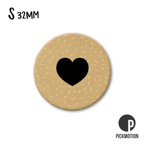 Magneet Pickmotion 32 mm Symbool Hartje