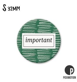 Magneet Pickmotion 32 mm Quote Important