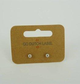 Go Dutch Label Oorbellen knopjes Zilver - Go Dutch Label