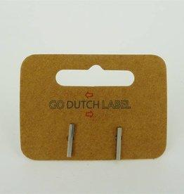 Go Dutch Label Oorbellen Stokjes Zilver - Go Dutch Label